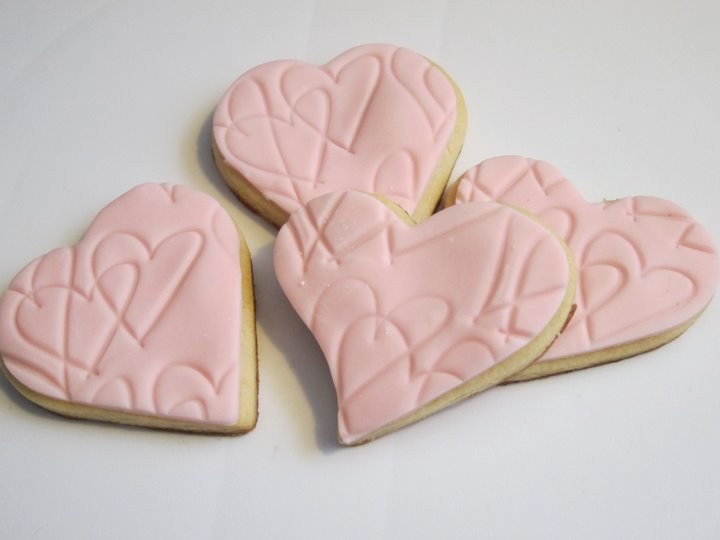 Heart Shaped Sugar Cookies with Fondant