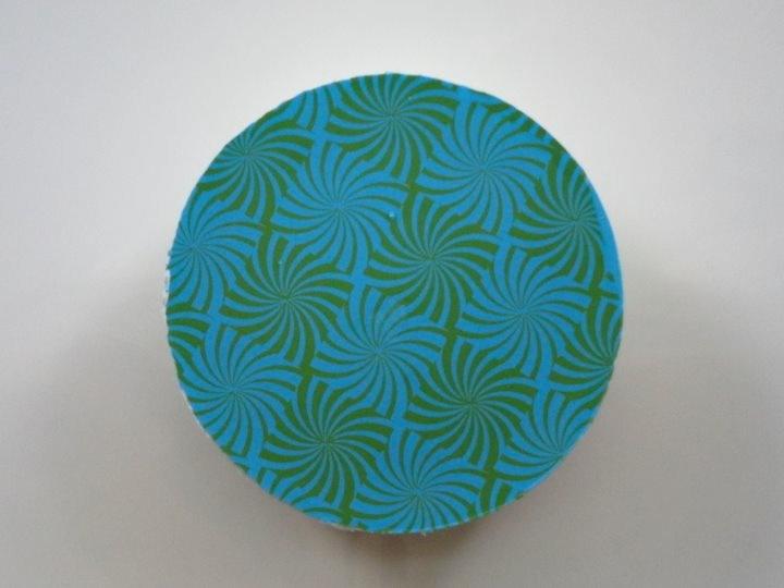 Blue Green Spiral Oreo