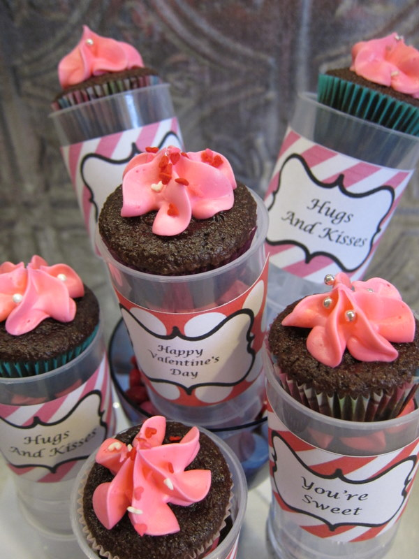 Valentine's Day Cupcake Push Pops