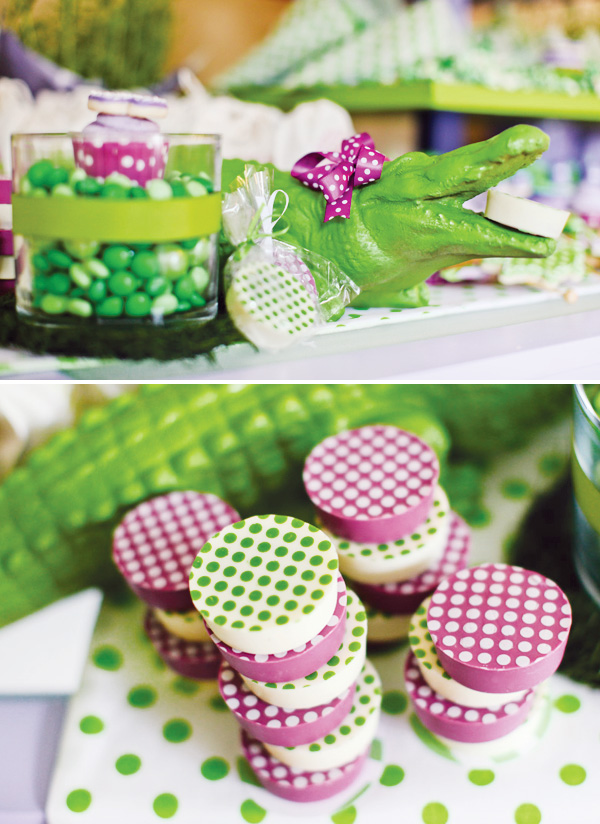 Purple Polka Dot Croc Birthday Party