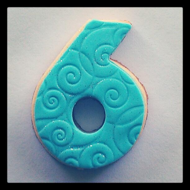 Number 6 Sugar Cookie