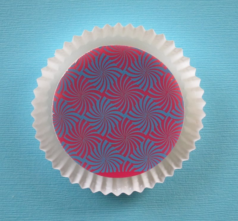 Pink and Blue Spiral Burst Chocolate Covered Oreo