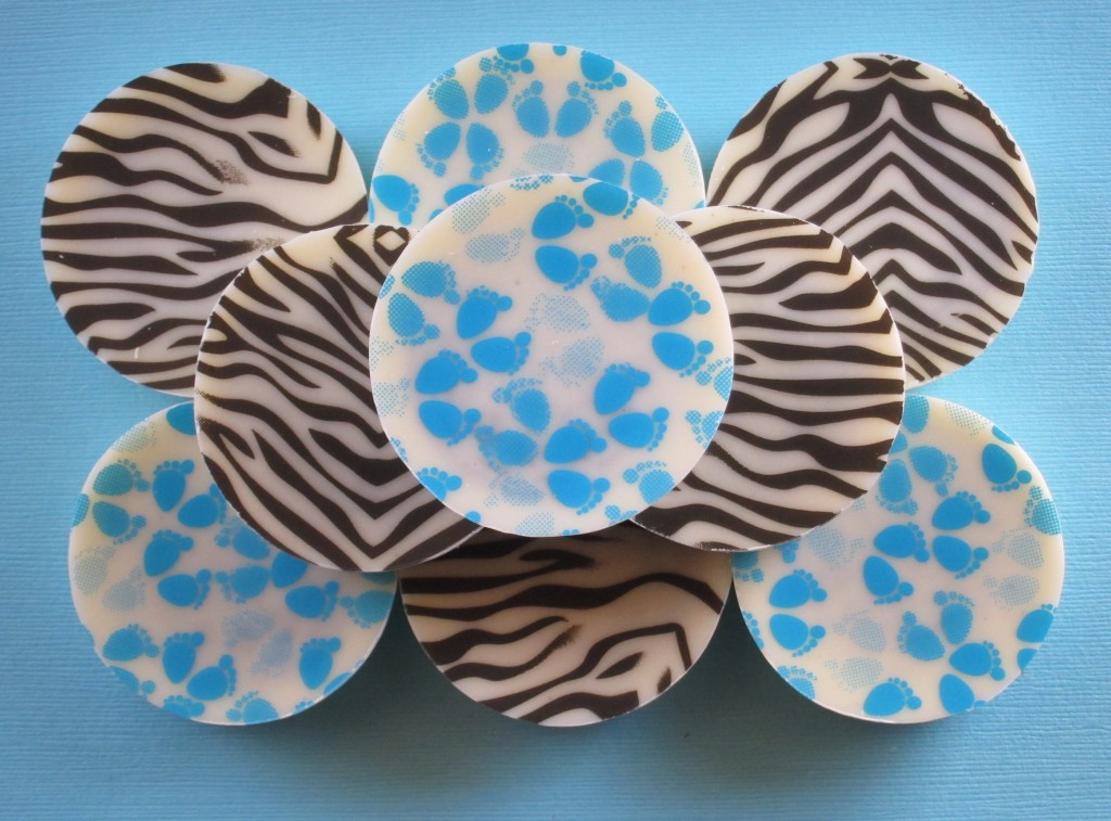 Zebra and Baby Boy Footprint Chocolate Covered Oreos
