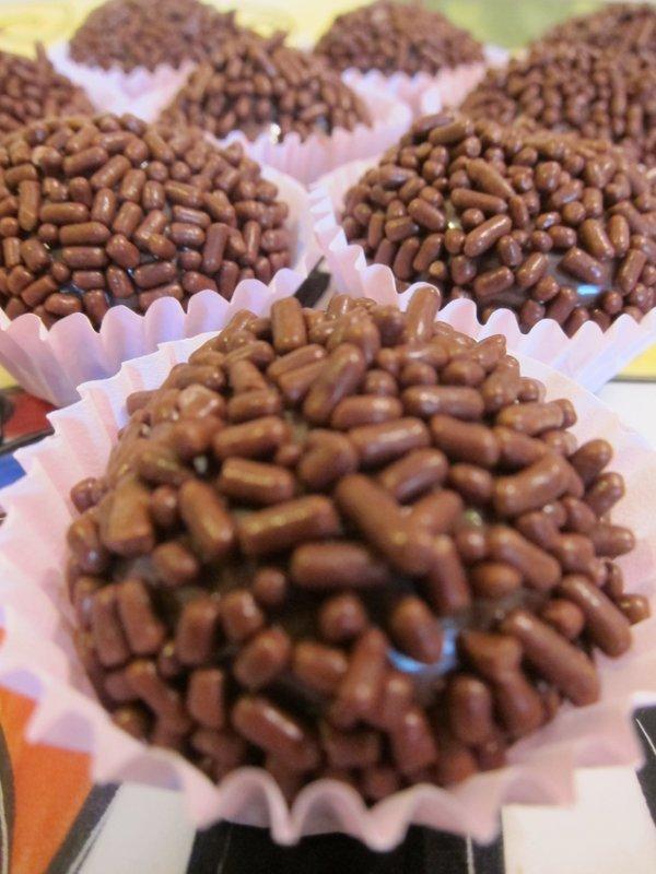 Chocolate Sprinkled Brigadeiros