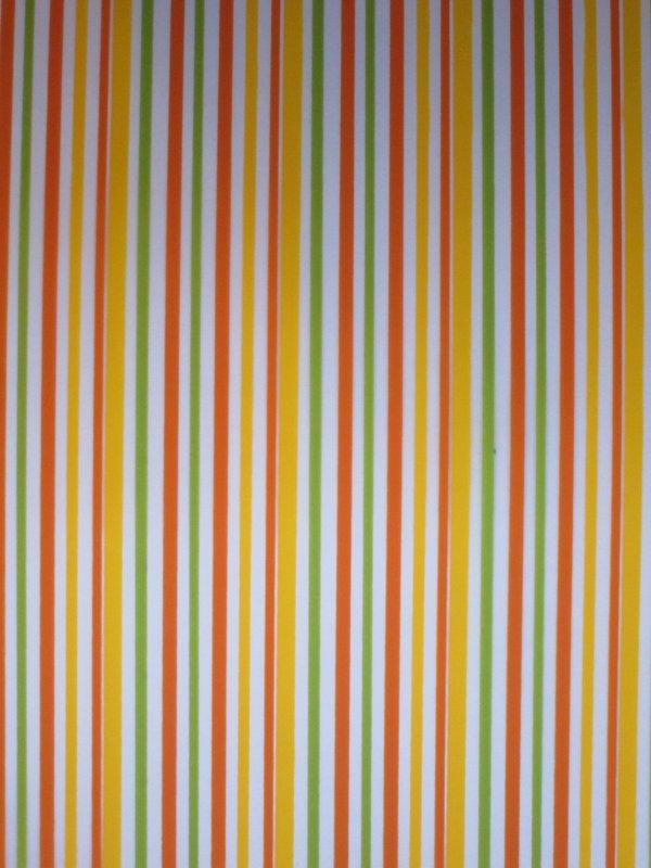 Yellow, Green, Orange Stripes