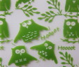 Lime & White Owls
