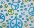 Light blue & Lime Peace