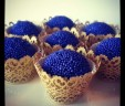 Purple & Gold Wedding Brigadeiros