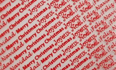Christmas Greetings Transfer Sheet