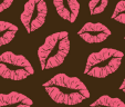 Lips Chocolate Transfer Sheet